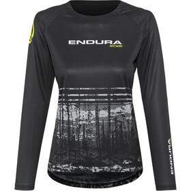 Endura MT500 II LTD Fietsshirt lange mouwen Dames grijs/zwart